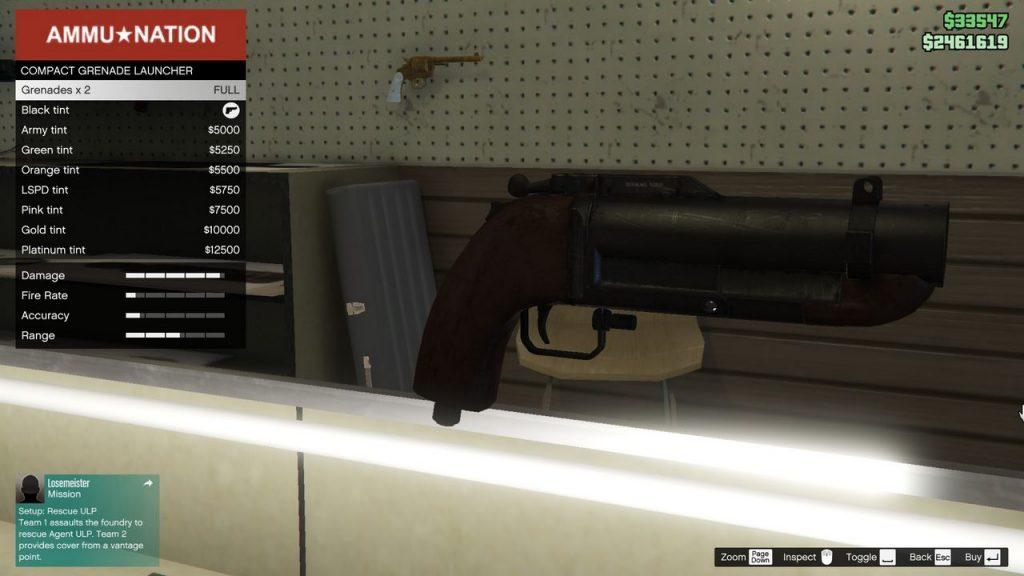 GTA Online compact grenade launcher