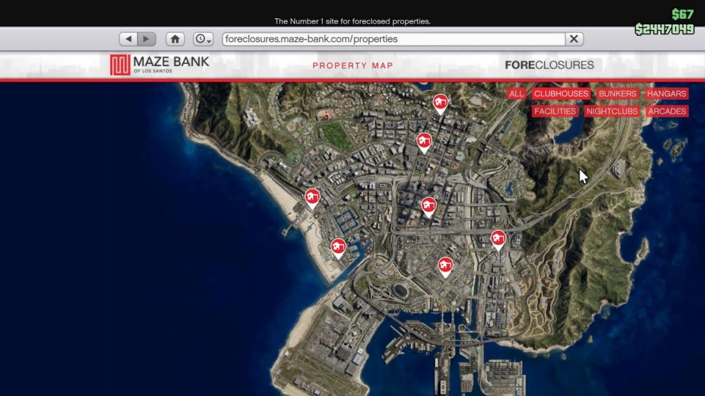 GTA 5 Online property map