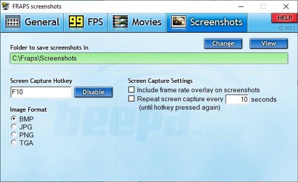 fraps képernyőkép