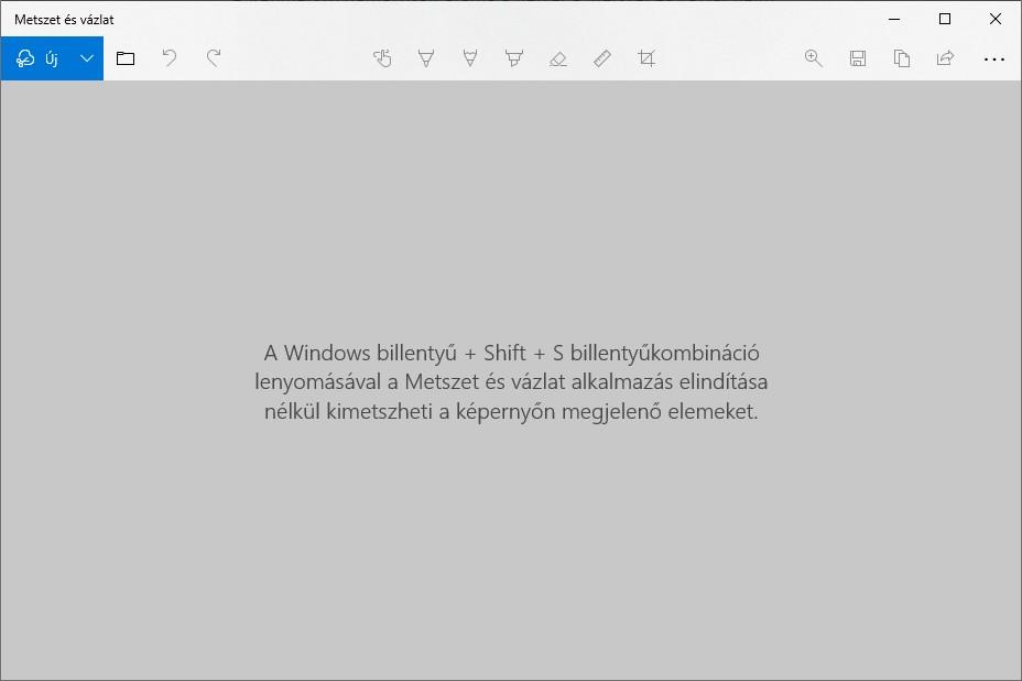 windows 10 metszet és vázlat