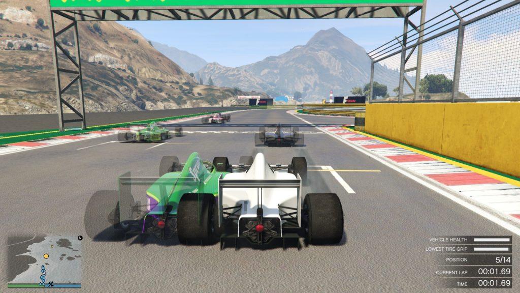 GTA 5 Online non-contact verseny