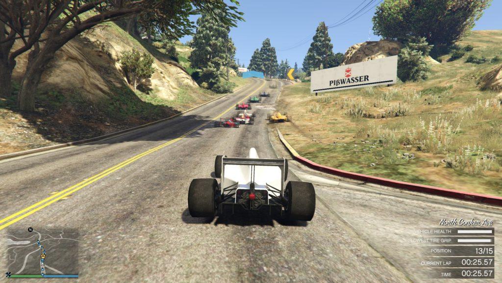 GTA 5 Online autóverseny