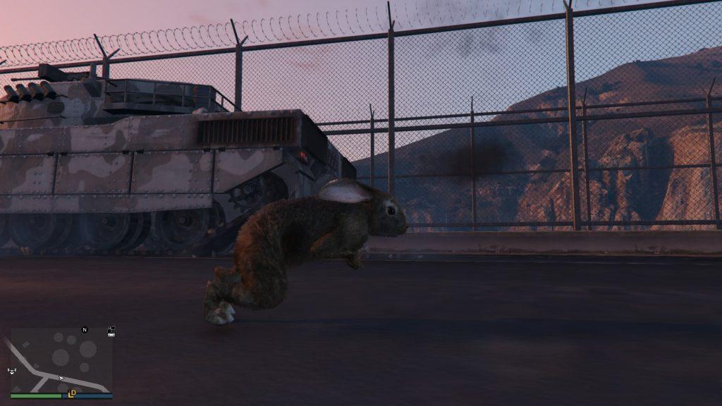GTA Online nyúl és tank