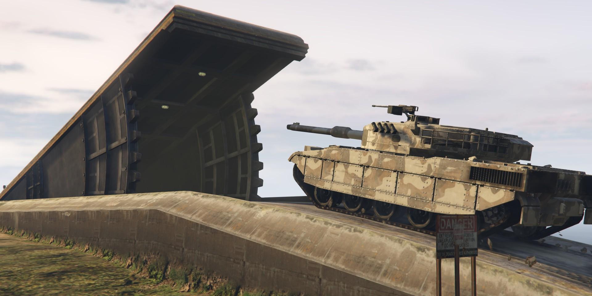 gta online bunker tank