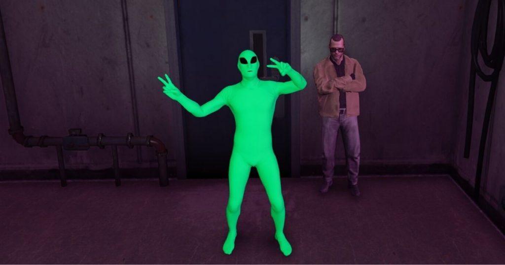gta online zöld alien béke
