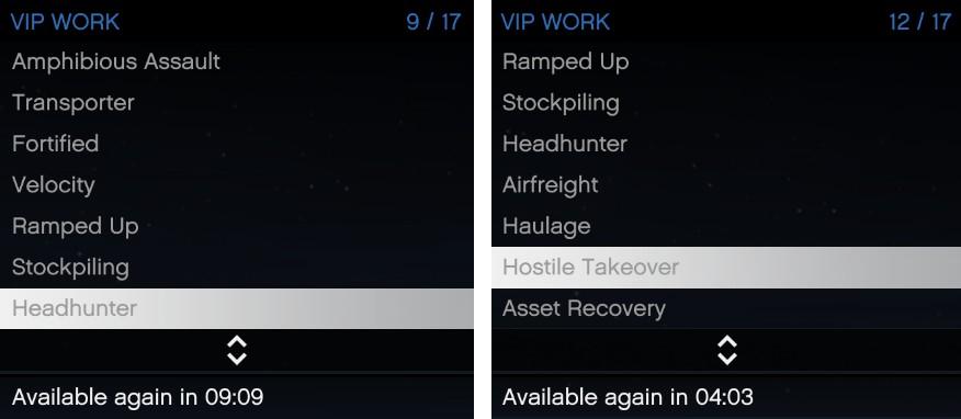 GTA Online VIP work cooldown
