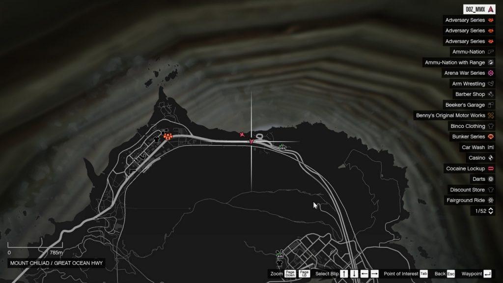 Paleto Bay csatorna térkép