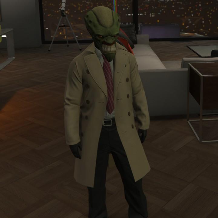 Alien interloper glitch outfit